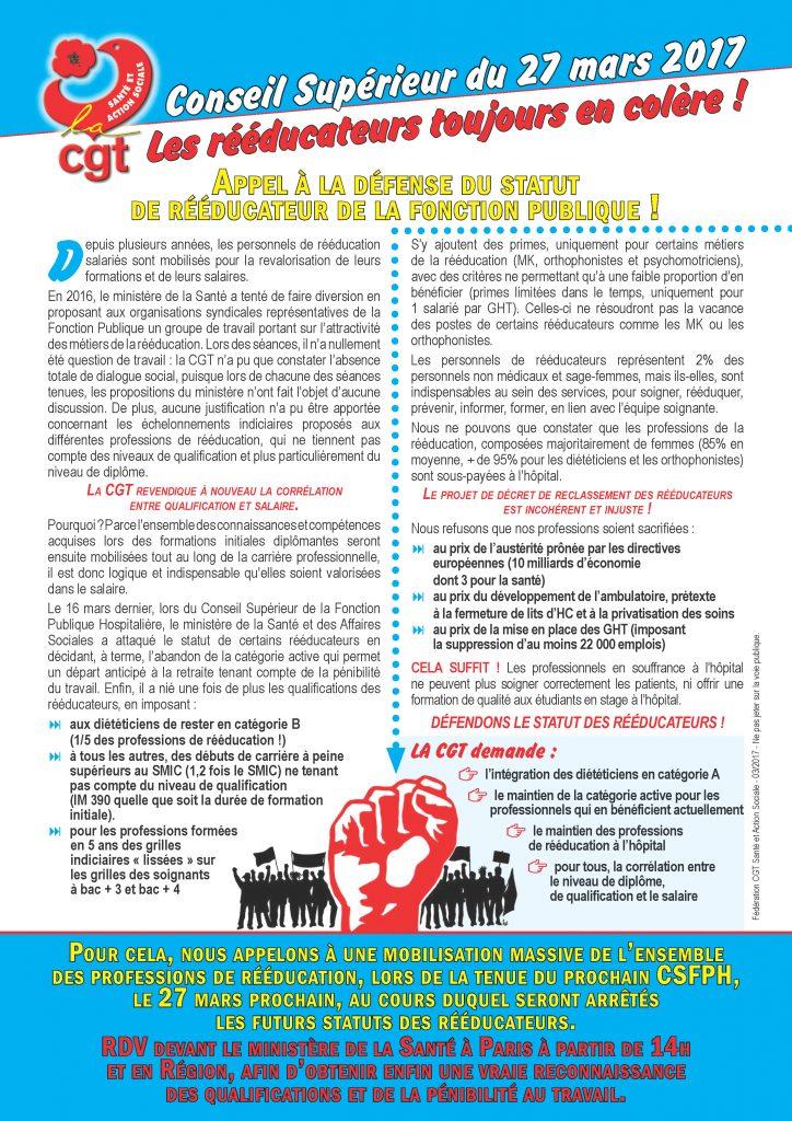 Conseil sup rieur du 27 mars personnels de r ducation - Grille fonction publique hospitaliere ...
